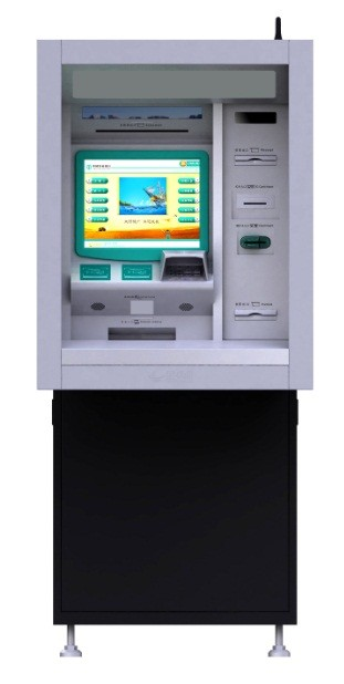 Simp Easy Design Kiosk Atm Machine Anti - Vandal 15 Inch Touch Monitor