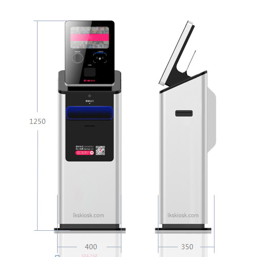 9.7 inch Self-Serve Kiosk/Mini Payment kiosk with/without Cash Dispensser,Ticket vending Kiosk to sell ticket fast