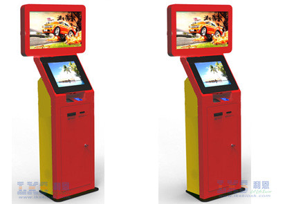 32 Inch or 19 Inch Dual Screen Kiosk , Industrial Kiosk For Trade Show