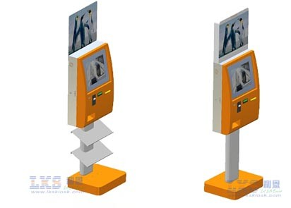 Vandal-proof Dual Screen Kiosk With SAW Touchscreen Use for Government Halls