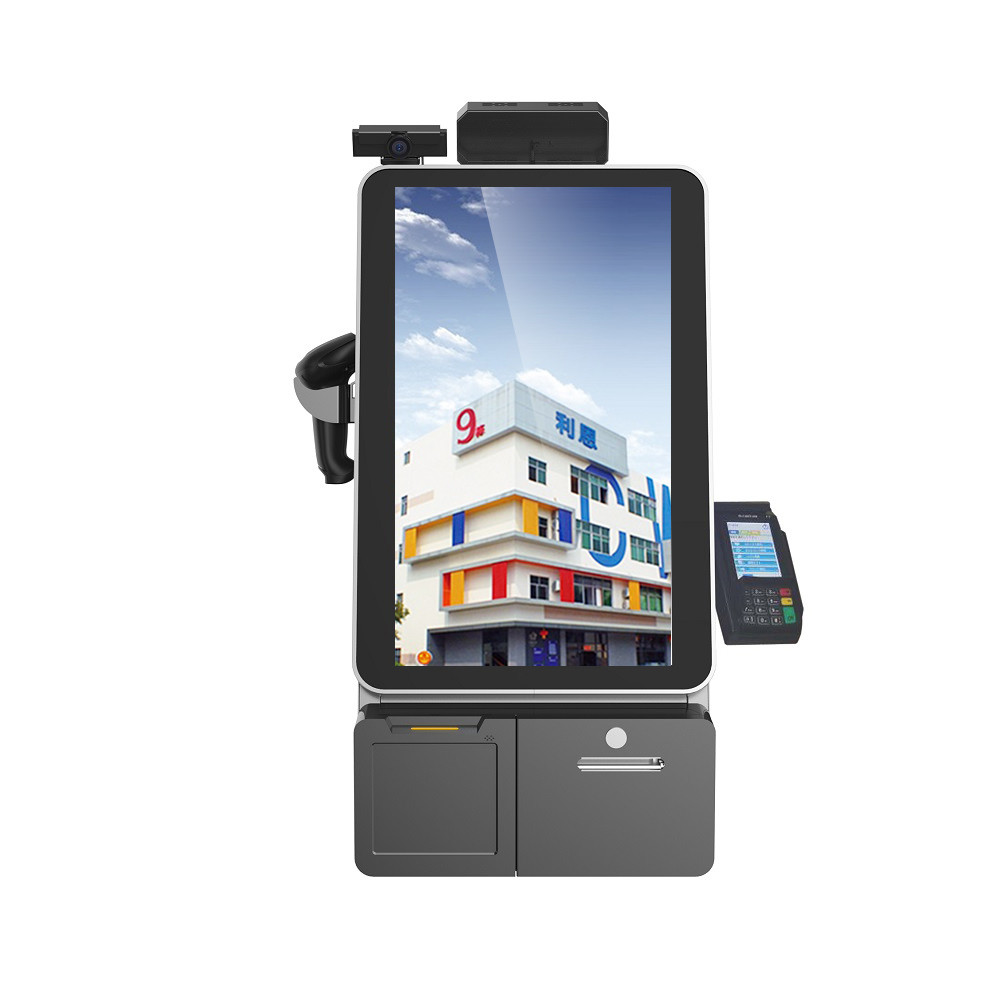 "17"" Touch Screen Information Kiosk With Thermal Receipt Printer / Interactive Kiosk"