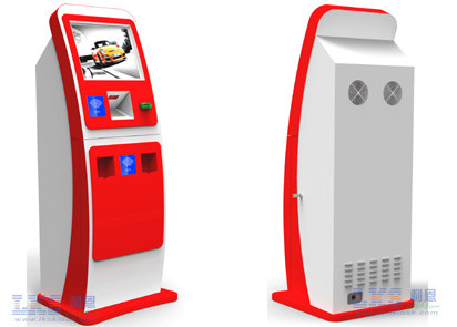 Indoor SAW / IR / Capacitive Bill Payment Kiosk Anti-vandal With QR Scanner