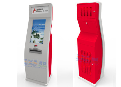 A4 Laser Printer Self Service Kiosk 1D / 2D Scanner For Public Area Metro Station